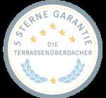 Terrassenüberdachung mit 5 Sterne Garantie